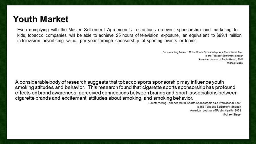 Alliance Sport Marketing Utilizing Sport Marketing To Combat